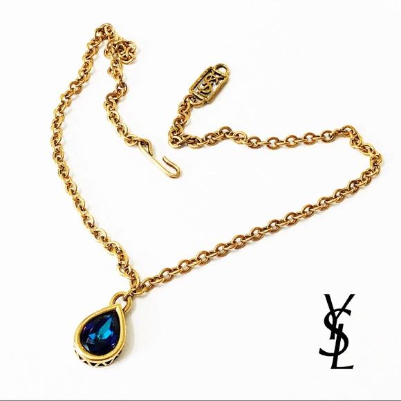 f8fa16b8fce Yves Saint Laurent • Vintage Teardrop Necklace. M_5b59d93942aa7667d2dce671